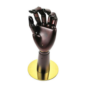 Wood Mannequin Hand Necklace Watch Bangle Jewelry Display Stand Short
