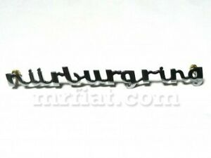 Fiat 500 600 Abarth Nurburgring Chrome Emblem 130 Mm