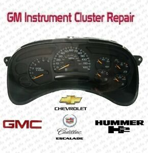 Gmc Yukon Instrument Cluster Repair Service Speedometer 2003 2006 Chevy Gm