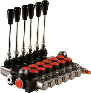 6 Spool Hydraulic Directional Control Valve 21gpm Double Acting Cylinder Spool