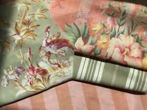 Antique Vintage French Fabric Piece Pack Bundles For Projects Dolls Sewing