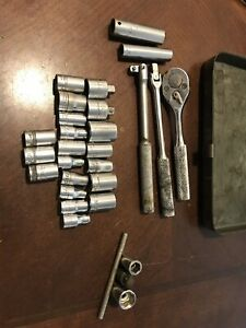 Vintage Mixed Lot Proto Craftsman Usa Tools Socket Ratchet Breaker Bar Set 1 4