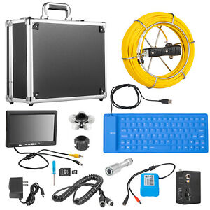 7 Lcd Pipe Inspection Pipeline 30m Drain Sewer Waterproof Camera 16g W keyboard