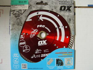 New Ox Ox pu10 Pro Series 7 Diamond Blade For Grinders Circular Demo Saw