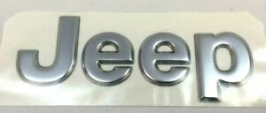 1997 2005 Jeep Grand Cherokee Front Bumper Rear Hatch Silver Nameplate Emblem