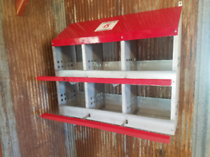 Duncan s Poultry 6 Hole Hen Chicken Nest Box Highest Quality Made In Usa