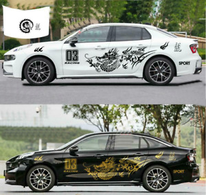 Graphics Mototsport Gragon Car Sticker Fit For Lynk Volvo Side Door Racing Decal