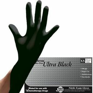 10 20 50 Black Nitrile Disposable Exam Gloves Xs S M L Xl Free Ship Us Stock