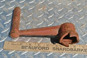 Rare Original Stationary Hit Miss Gas Engine Cast Iron Hand Crank