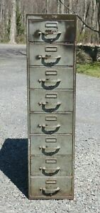 Vintage Metal File Cabinet Yawman And Erbe Industrial Cabinet