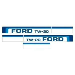 Ftw20 Hood Decal Set Fits Ford Fits New Holland Tractor Tw 20