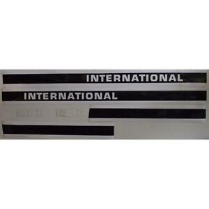International I1486c Hood Decal Set For 1486 Tractor W Cab Decal Brand New
