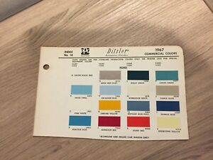 1967 1968 Ford Truck Paint Chip Charts