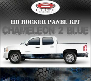 Hex 2 Blue Camo Rocker Panel Graphic Decal Wrap Truck Suv 12 X 24ft