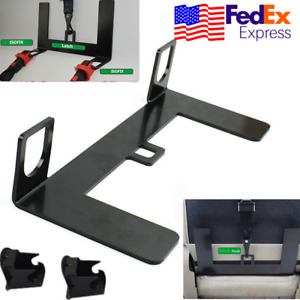 Steel Latch Isofix Connector Car Seat Belt Buckle Bracket For Child Safety Usa