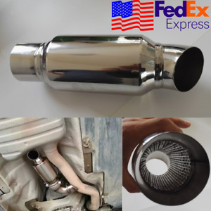 Stainless Car Exhaust Downpipe Branch Sound Tuning Muffler Pipe 2 To 2 Usa 1x