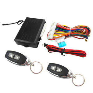Car Keyless Entry System Remote Control Key Central Door Lock Kit Led Indicator