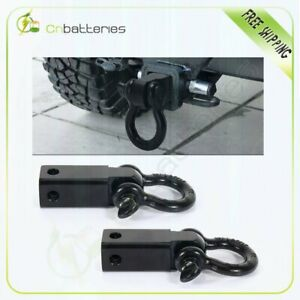 2 Trailer Hitch Receiver 3 4 D ring Bow Shackle Rowing Tool 2pcs
