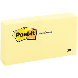 Post it Notes 5400 3 In X3 In 7 62 Cm X 7 62 Cm Canary Yellow