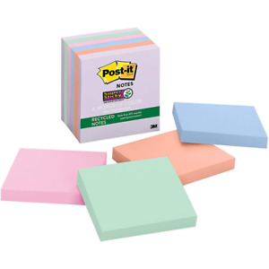 Post it Super Sticky Recycled Notes 654 6ssnrp 3 In X 3 In