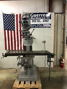 Bridgeport Milling Machine 48 Table And Power Feed