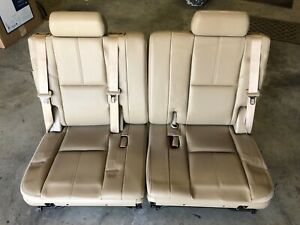 Third Row Seats Tan Leather Fits 07 14 Suburban Tahoe Yukon Yukon Xl Escalade
