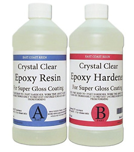 Epoxy Resin Crystal Clear 8 Oz Kit For Super Gloss Coating And Tabletops