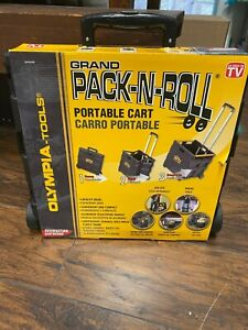 Pack n roll Grand Cart Plastics Holds Up To 80lbs As Seen On Tv