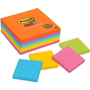 Post it Super Sticky Notes 654 24ssau 3 In X 3 In 76 Mm X 76 Mm