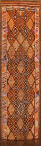 Antique South Western Geometric 15 Ft Moroccan Tribal Runner Rug 14 9 X 2 9