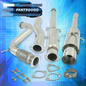 For 94 97 Honda Accord 4 5 Muffler Tip Catback Stainless Exhaust System 3 Pipe