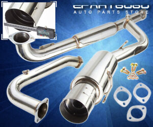 For 95 99 Eclipse Gst Dsm Turbo 4g63t Stainless Catback Exhaust System 75mm Pipe