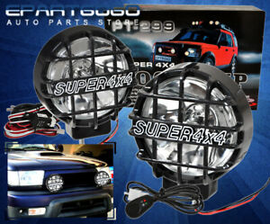 Pair Universal 6inch Built In 6000k Hid 4x4 Offroad Fog Lights For Suv Trucks