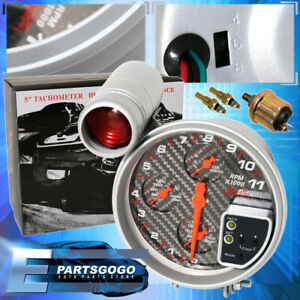 For Jeep Dodge 5 Tachometer Gauge Cluster 11k Rpm 4in1 Water Oil Pressure Temp
