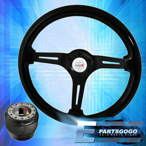 Deep Dish Steering Wheel Black Center Black Wood Hub Adapter For 88 91 Prelude