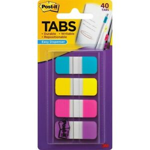 Post It 676 aypv 5 8 Post it Tabs With Dispenser Assorted Colors 40 Count