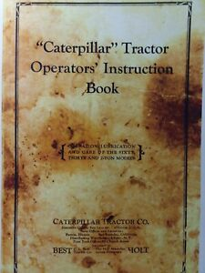 Caterpillar C i Best Holt Sixty Thirty 2 ton Crawler Tractor Owners Manual 60 30