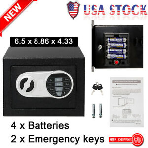 Electronic Digital Safe Box Keypad Lock Security Office Cash Jewelry Deposit