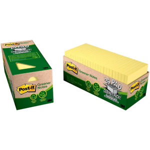 Post it Notes 654r 24cp cy 3 In X 3 In Canary Yellow