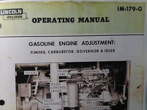 Lincoln Sa 200 300 400 600 Gasoline Engine Dc Welder Owners Manual Pipeliner