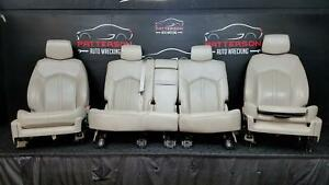 2010 Cadillac Srx Front Bucket Rear Power Leather Seat Set Shale Trim Code 1ag
