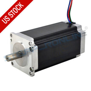 Nema 23 Stepper Motor 3nm 425oz in 4 2a 113mm 10mm Shaft For Cnc Router Mill