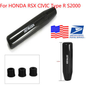 For Honda Rsx Civic R S2000 Carbon Fiber Appearance Mugen Manual 13cm Shift Knob