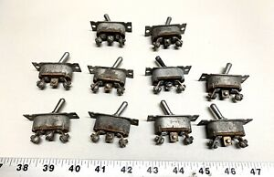 Lot Of 10 Vintage B 9a Aviation Toggle Switch Switches Have A Lot More