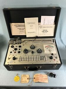 Vintage Jackson 658a Dynamic Output Tube Tester W Manuals Powers Up Ec