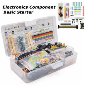 Electronics Component Starter Kit 830 Tie points Breadboard Cable Resistor Pro