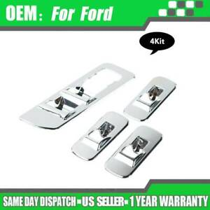 Window Lift Switch Panel Chrome Cover Trims For 2015 2018 Ford F150 Accessories