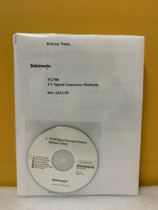 Tektronix 070 a799 57 Tg700 Tv Signal Generator Platform User Manual