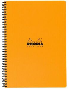 Rhodia Wirebound Notebook 8 1 4 X 11 3 4 Lined With Margin Orange