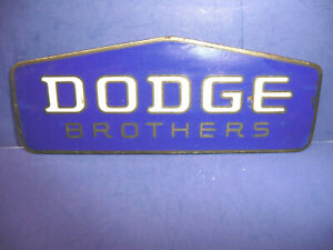 Vintage 1930 1931 Dodge Brothers Truck Radiator Emblem Enamel Badge Ct27